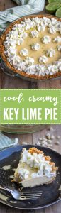 Classic Key Lime Pie | A cool, creamy, classic spring summer dessert, fast and easy to make with fresh lime juice and a graham cracker macadamia nut crust.