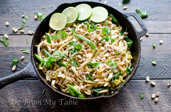 Healthy vegetable pad thai - artfrommytable.com