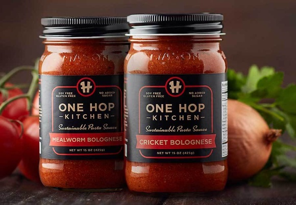 One hop kitchen insect pasta sauce