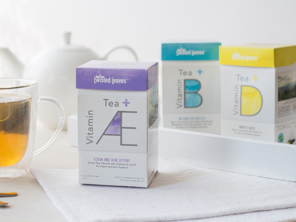 Tea+ Vitamins packaging