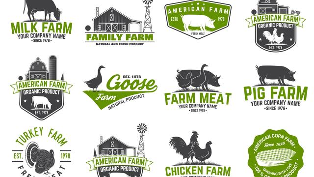 Generic farm logo templates