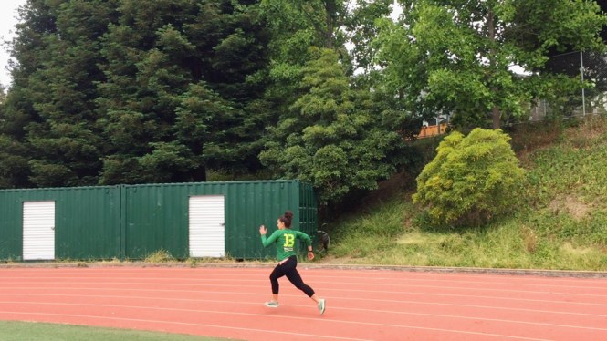 Running a track workout for half marathon training