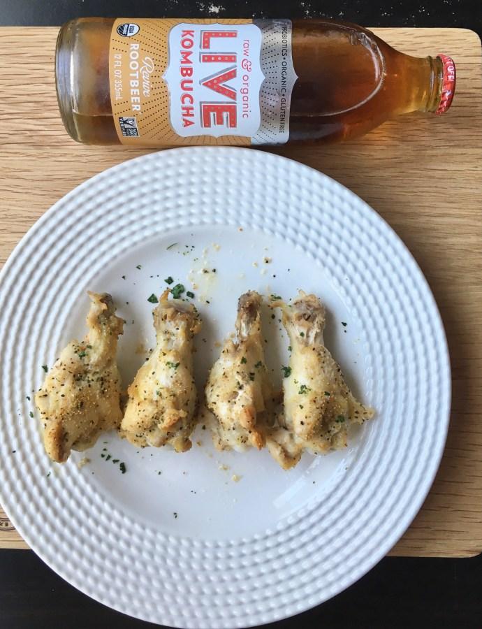 Skinny Garlic Chicken Wings