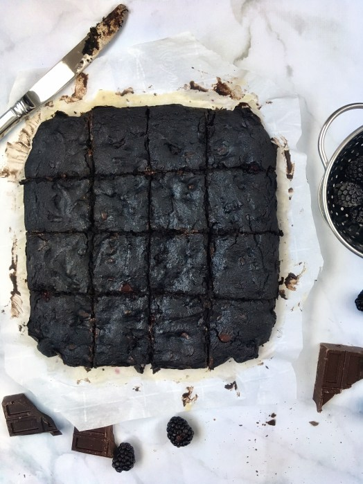 Blackberry Dark Chocolate Brownies