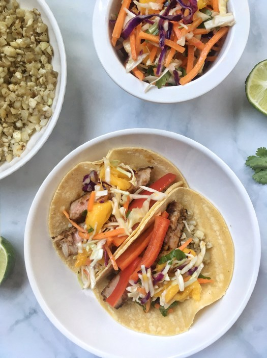 Honey Lime Fish Tacos with Mango Slaw 30 Minutes (1)