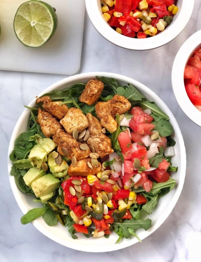 Not-Your-Average Paleo Fajita Chicken Salad