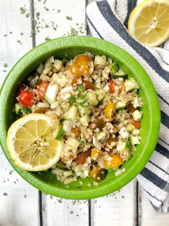 Last Minute Basil Cauliflower Salad1