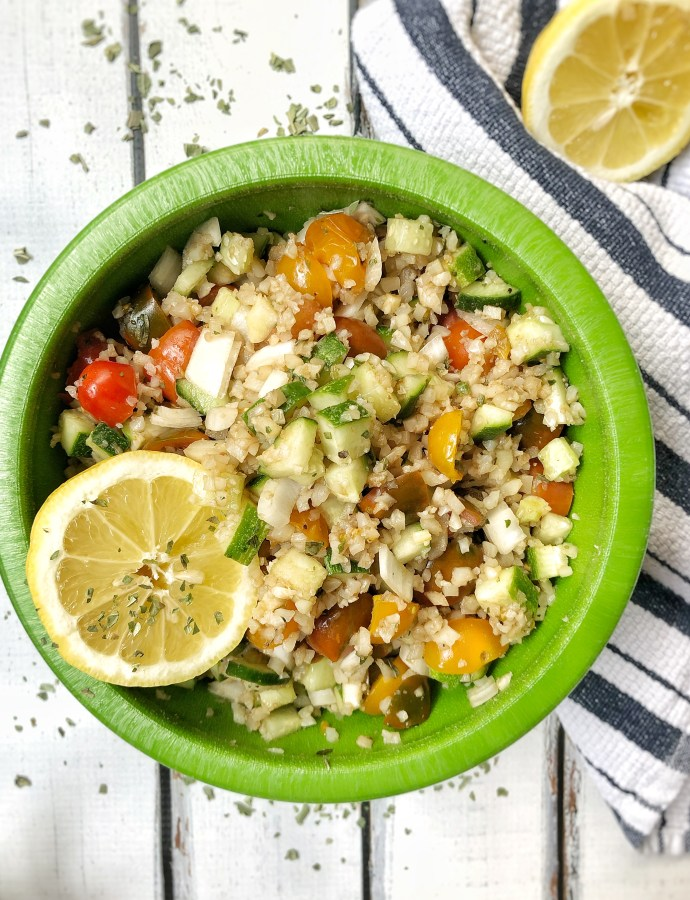 Last-Minute Basil Cauliflower Salad