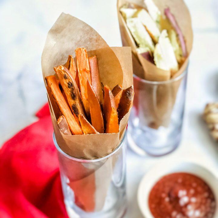 Oven-Baked Sweet Potato Fries: 2 Ways