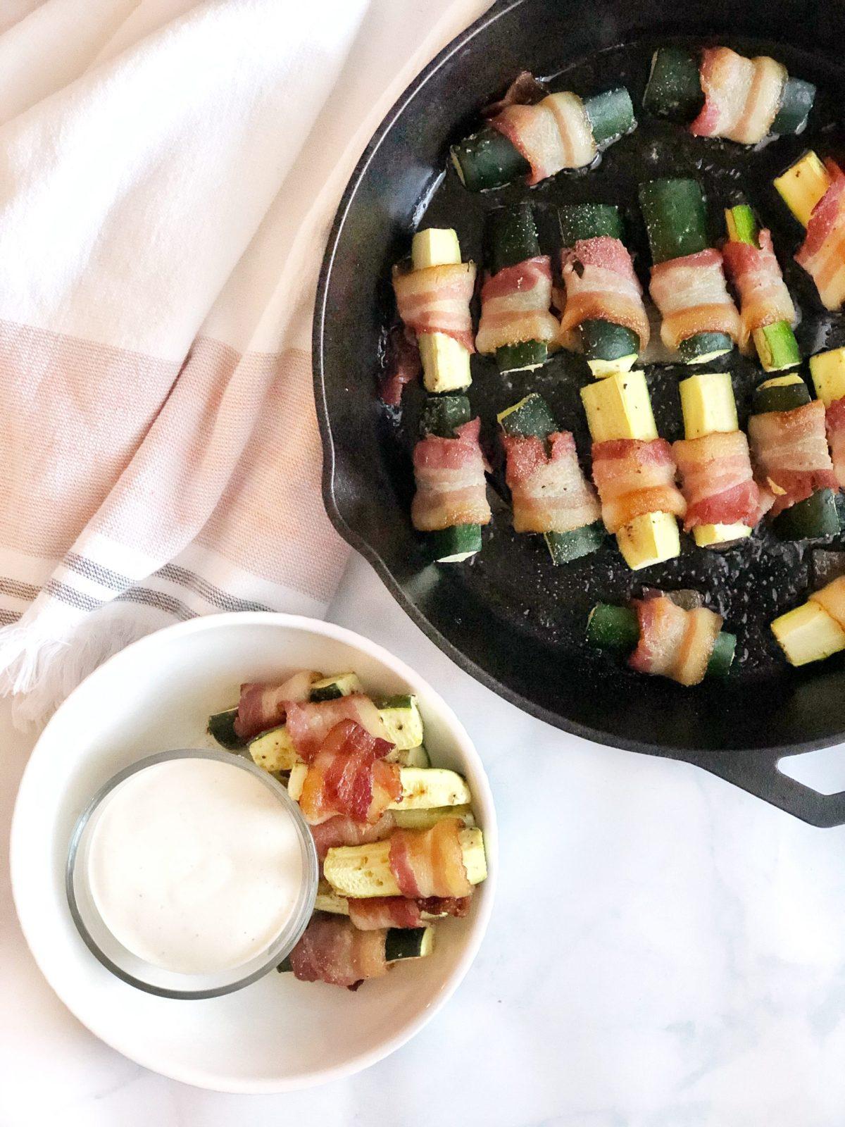 Bacon Wrapped Zucchini Bites