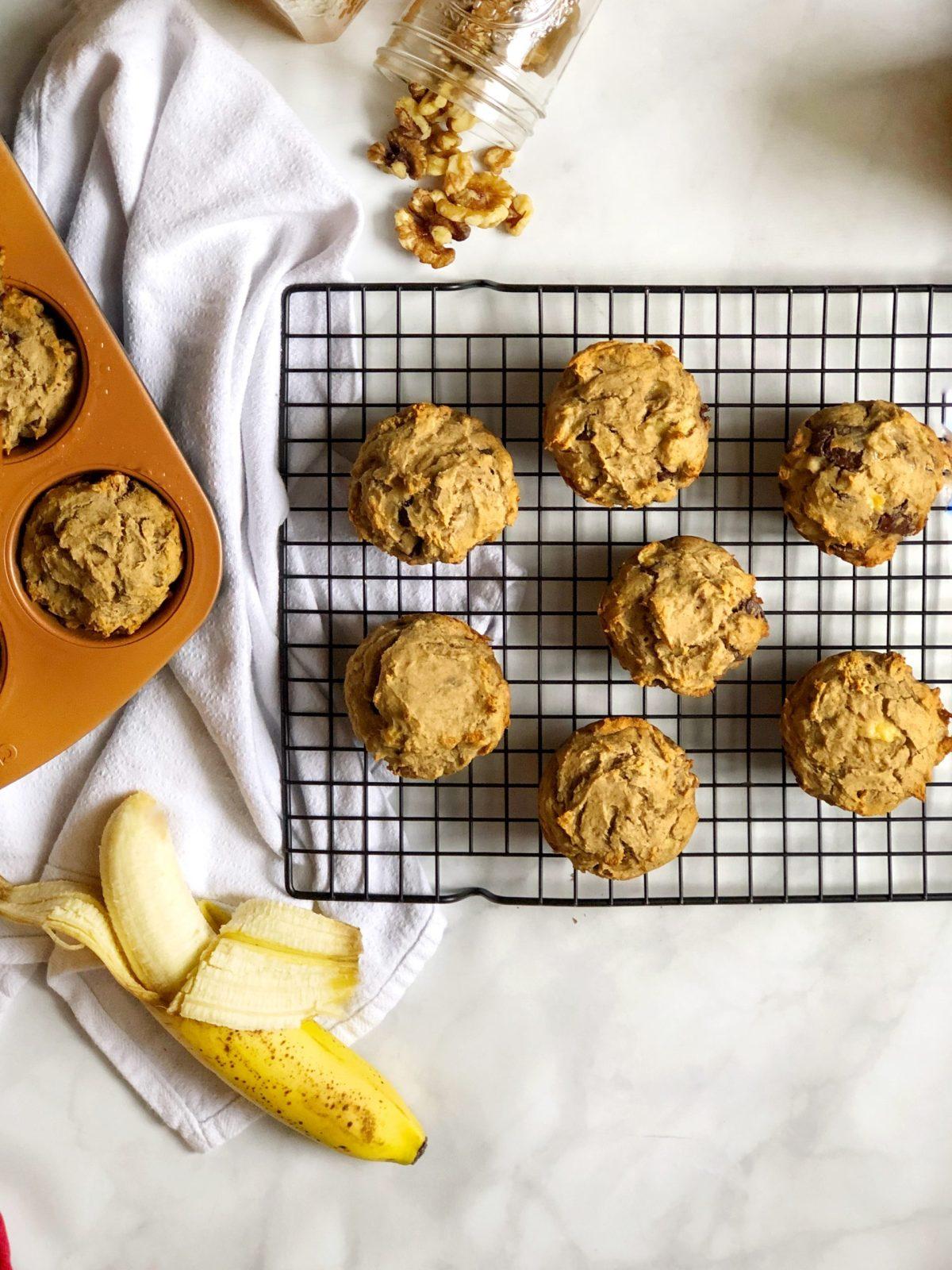 Paleo Chunky Monkey Muffins