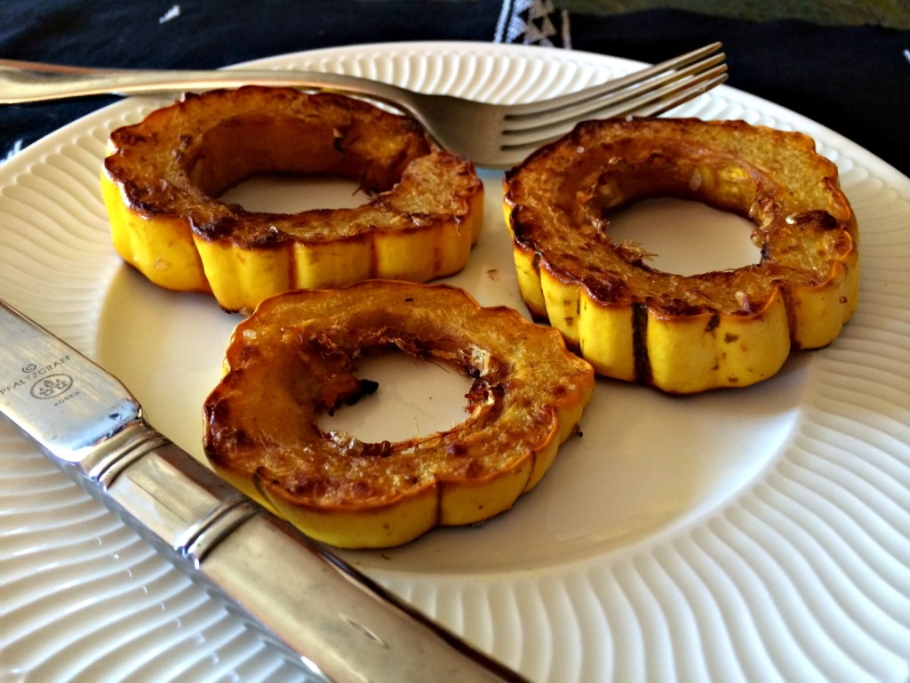 Yummy roasted delicata squash.