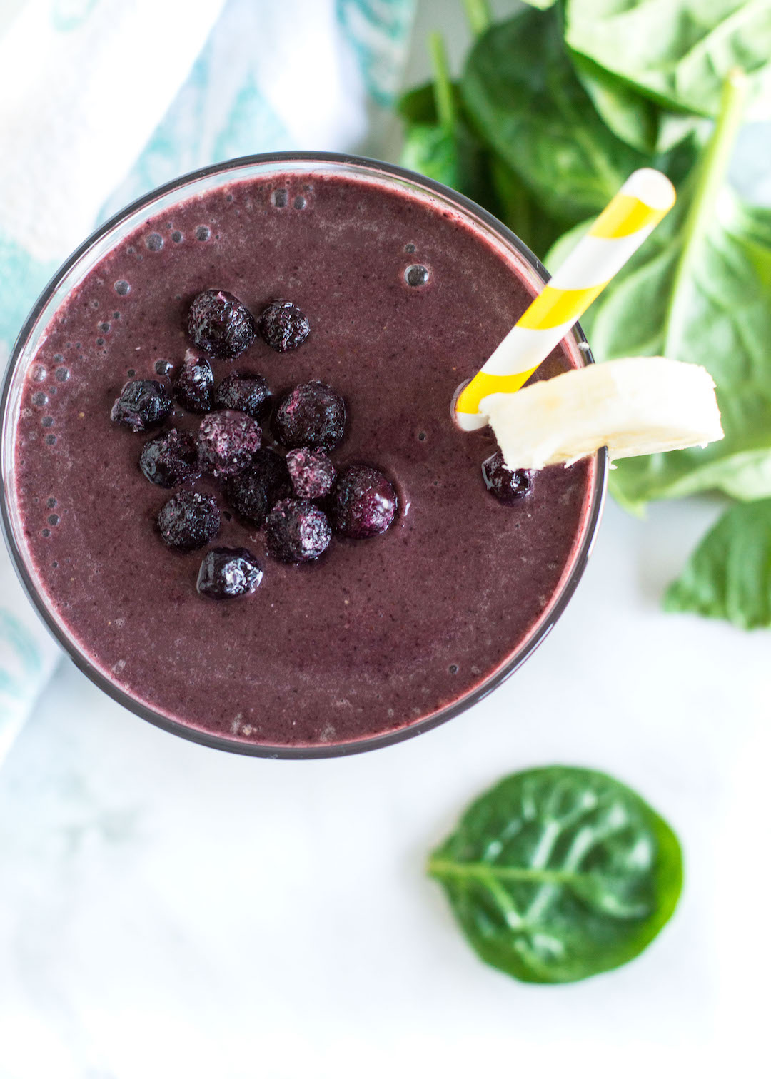 Superfood Smoothie   Blueberry and Greens Smoothie   recipe   gluten free, vegetarian, easy to make   green smoothie   And you can't even taste the spinach!