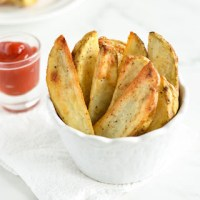 Salt and Peppered Oven Baked Potato Wedges