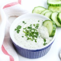 Healthy Ranch Dip (made with Greek Yogurt)