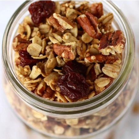 16 Awesome Quinoa Recipe Ideas | nourishedtheblog.com | Cherry Pecan Granola from Jessica and Stacie @ The Real Food RD's