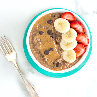 Chocolate Quick Oats with Almond Butter