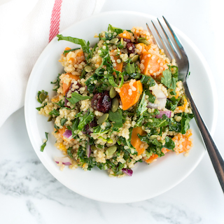 Roasted Sweet Potato Quinoa Salad