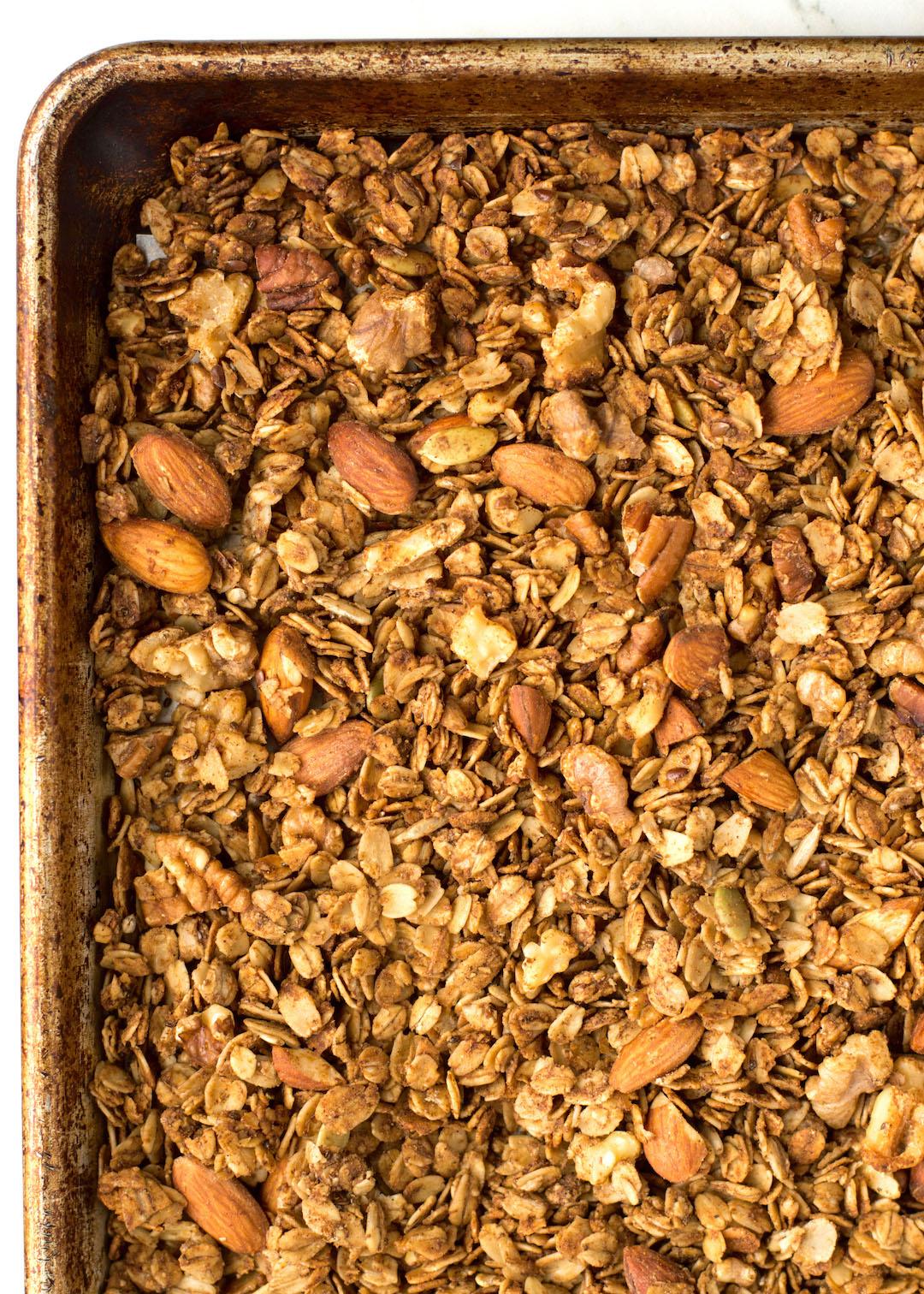 Superfood Gingerbread Granola   breakfast   granola   recipe   superfood, super seeds, nuts and seeds   gluten free, dairy free, vegan possible   gingerbread recipe   festive breakfast