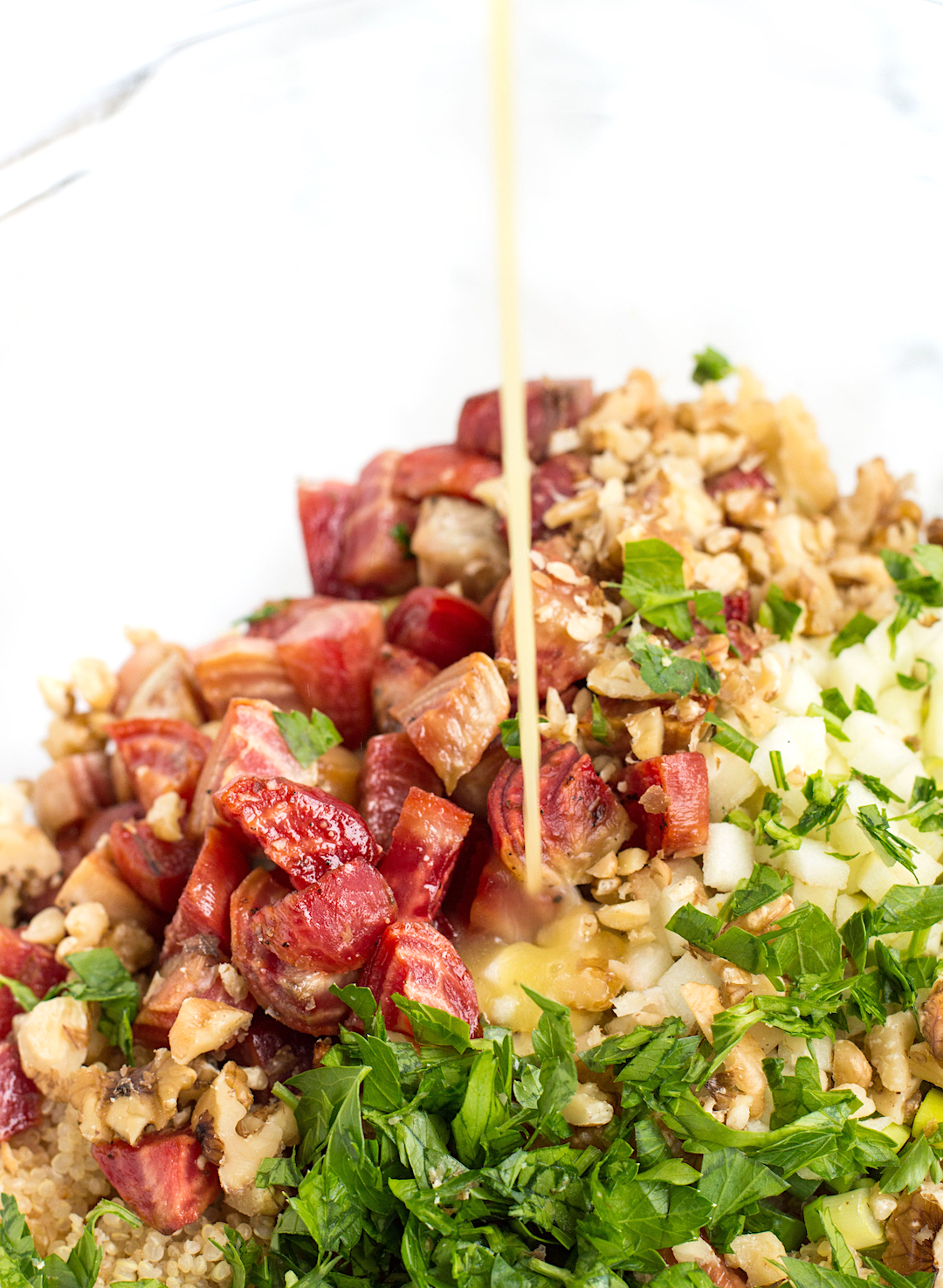 Roasted Beet and Quinoa Salad with Apple and Goat Cheese | healthy salad recipe | roasted beets | quinoa salad | gluten free, vegetarian, easy to make
