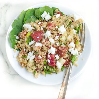 Roasted Beet and Quinoa Salad with Apple and Goat Cheese