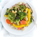 Honey Ginger Veggie Stir Fry