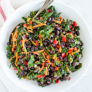 Easy Veggie Black Bean Salad with Zesty Lime Dressing