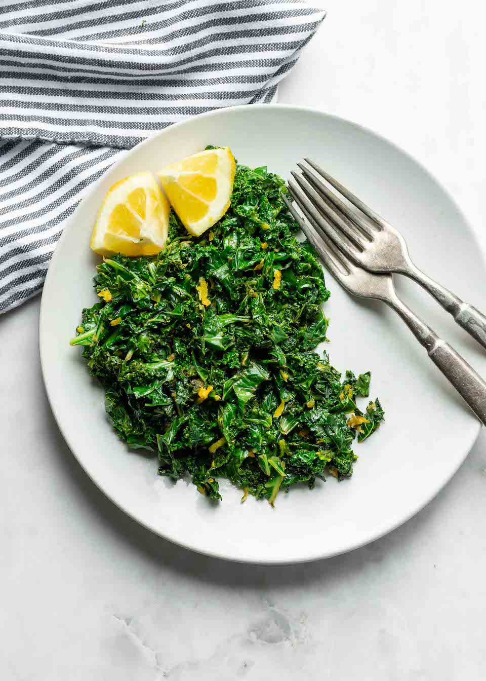 Lemon Garlic Greens