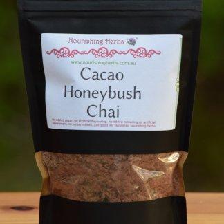 A bag of Cacao Honeybush Chai