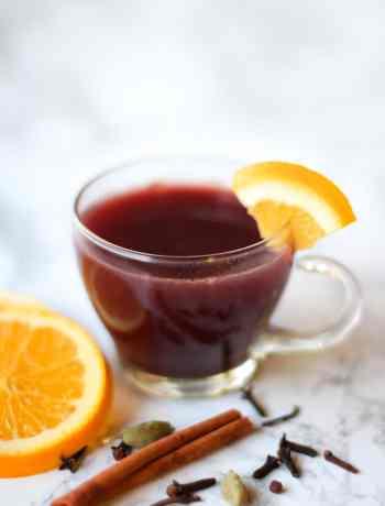 Hot Spiced Mulled Wine Recipe | Nourishing Wild