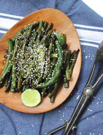 An easy Sesame-Soy Green Beans recipe | Nourishing Wild