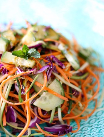 Vegan Pad Thai Raw Zoodles Salad Recipe | Nourishing Wild