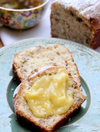 Vanilla bourbon cake recipe with lemon curd | Nourishing Wild