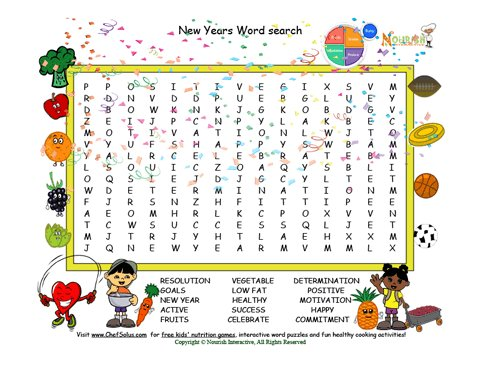 Holiday 1 New Year Word Search