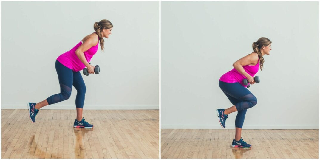 Sprint Lunge + Back Row