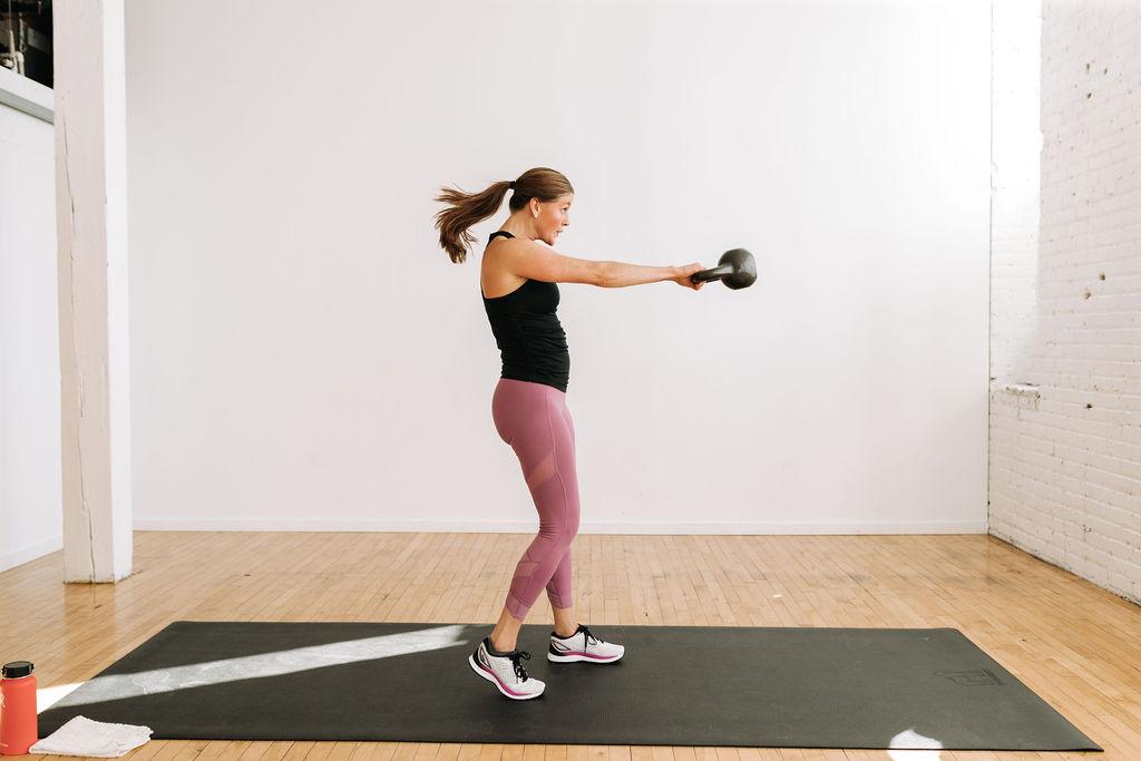 30-Minute Kettlebell HIIT Workout for Women | Nourish Move Love