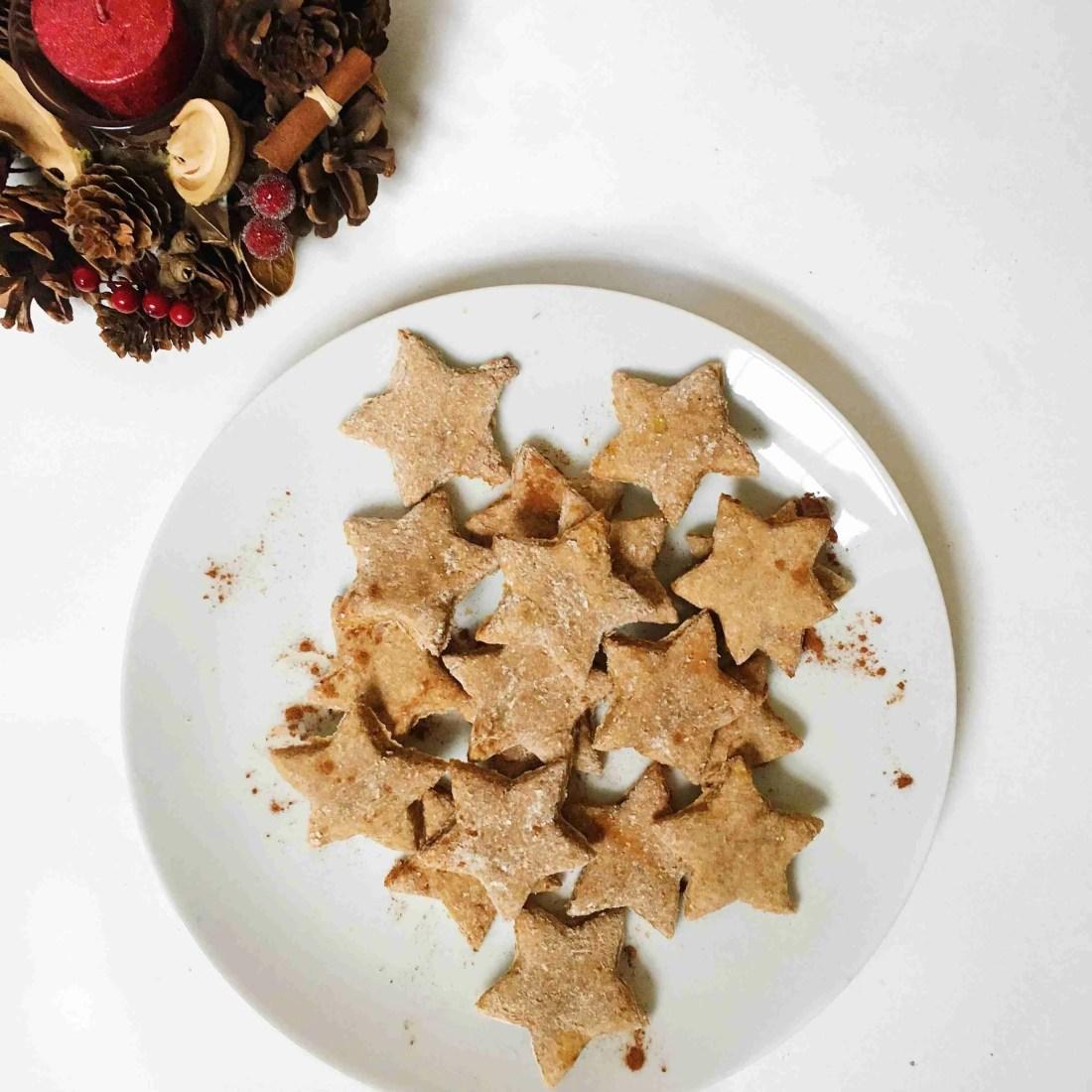 Healthy Cinnamon Christmas Stars Biscuits Vegan Gluten Free