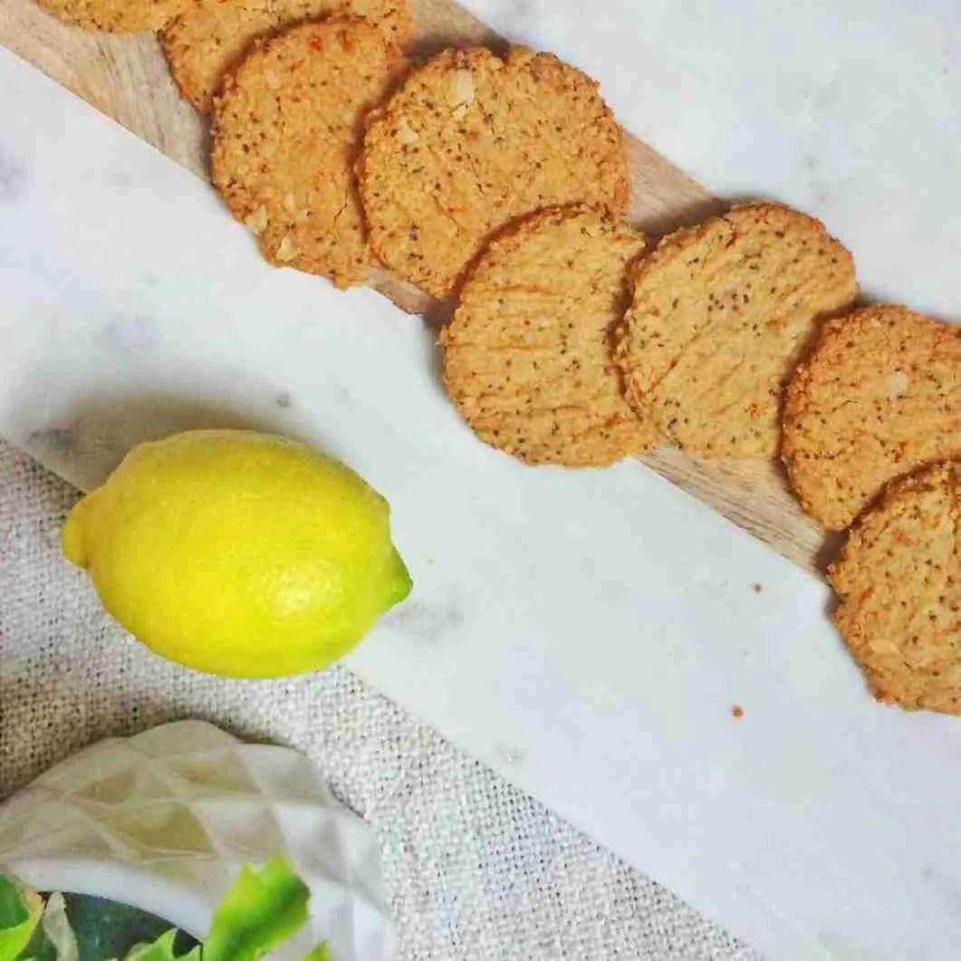 Healthy Lemon Poppy Seed Vegan Biscuit