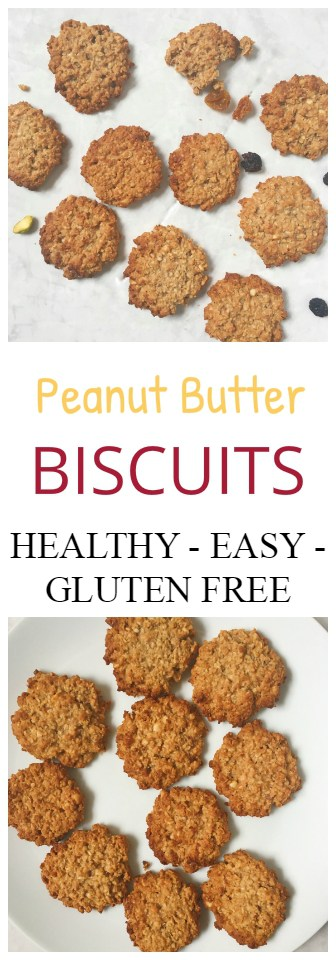 Peanut Butter Vegan Biscuits - Healthy, Gluten free