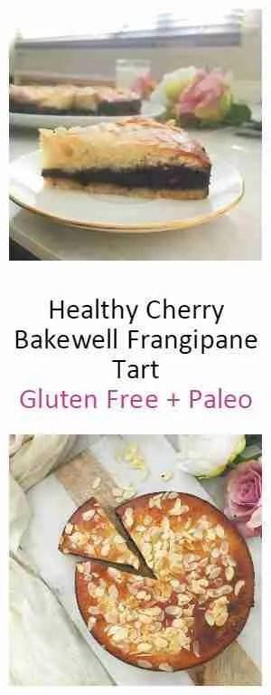 Healthy Cherry Bakewell Frangipane tart