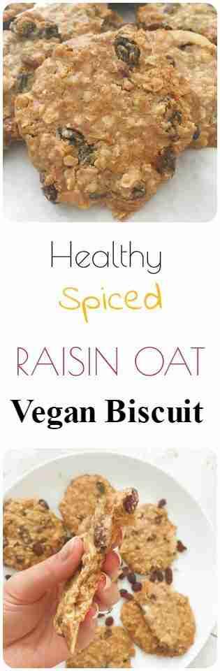 Spiced Raisin Oat Vegan Biscuit Recipe - Vegan + Gluten Free