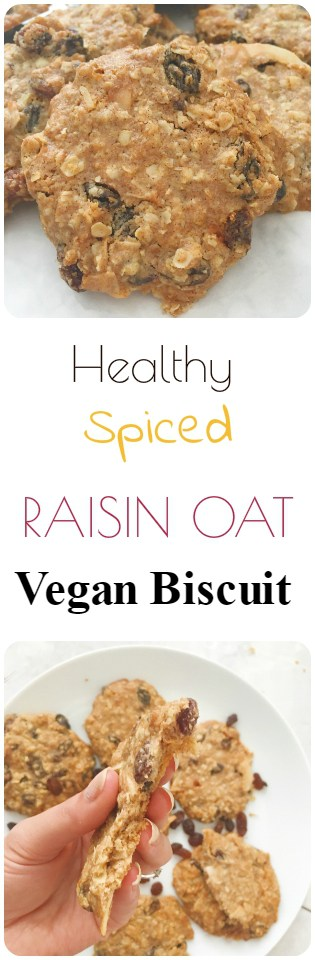 Spiced Raisin Oat Vegan Biscuit Recipe - Vegan + Gluten Free