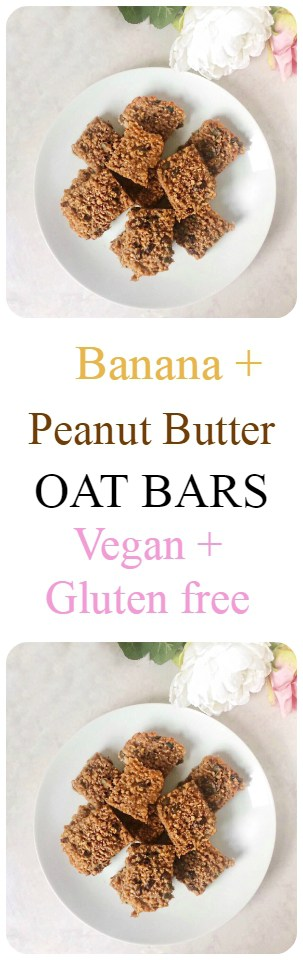 Banana and Peanut Butter Oat Bars Recipe