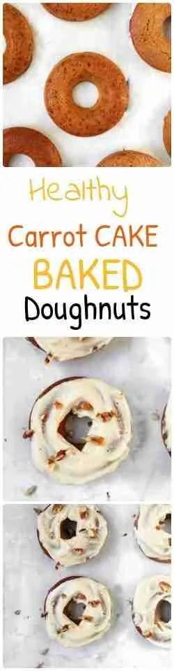 Healthy Carrot Cake Baked Doughnuts recipe