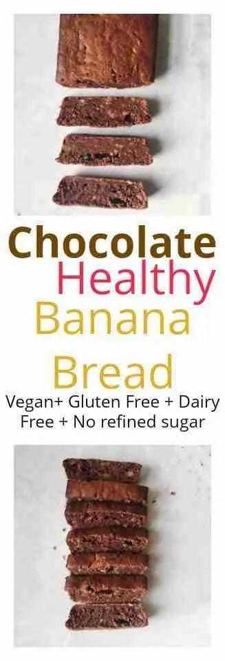 healthy chocolate banana bread recipe