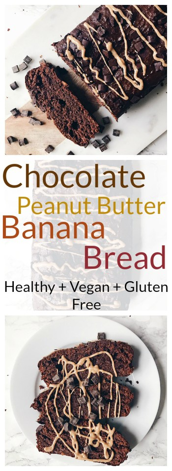 Chocolate Peanut Butter Banana Bread Recipe - Vegan + Gluten free 8