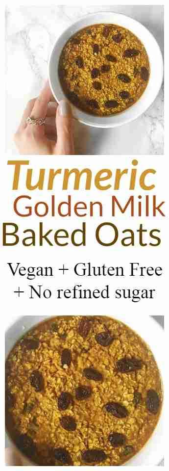 Turmeric Baked Oats Recipe