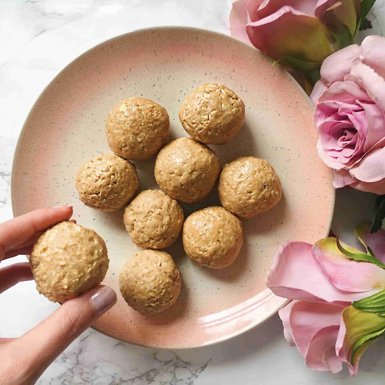 No Bake Protein Peanut Butter Balls Recipe - Vegan + Gluten Free