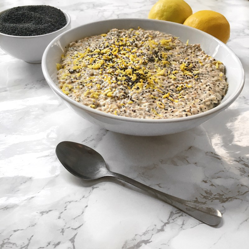 Lemon Poppy Seed Overnight Oats Recipe