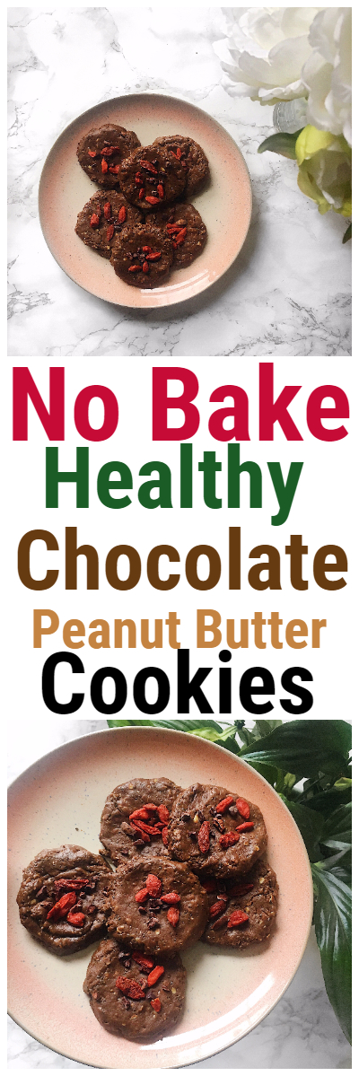 No Bake Healthy Chocolate Peanut Butter Cookies